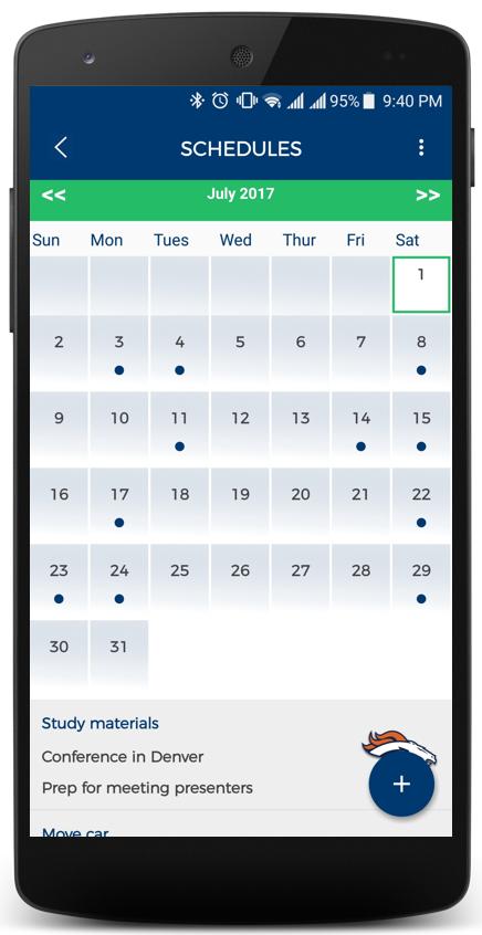 PiVi Calendar Screen